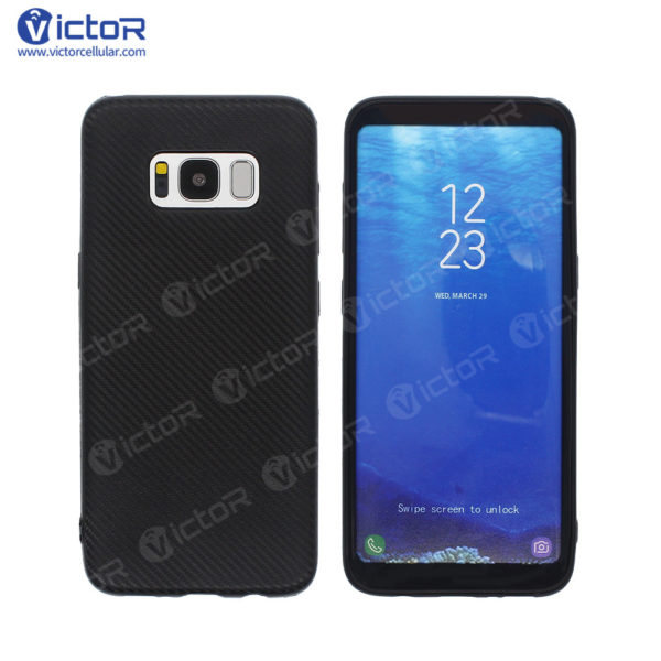 carbon fiber phone case - phone case for Samsung s8 - protective phone case - (2)