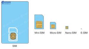 e-sim card - sim card - small sim card - 1
