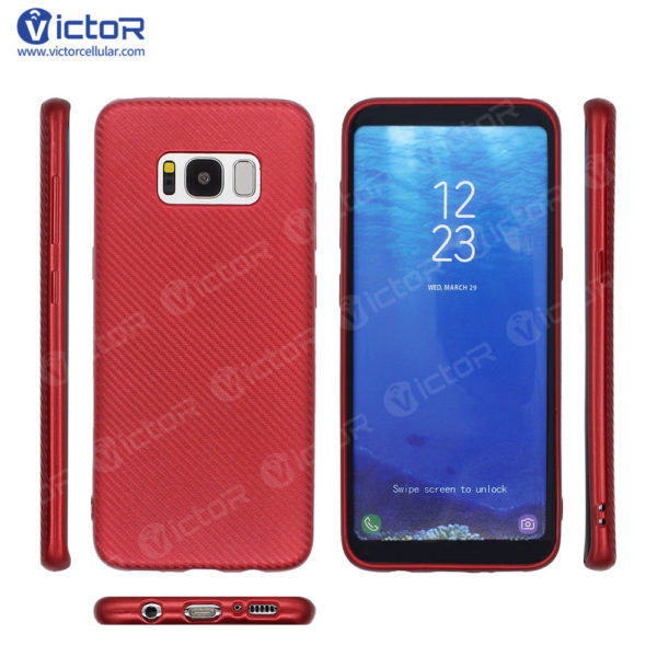 carbon fiber phone case - phone case for Samsung s8 - protective phone case - (8)