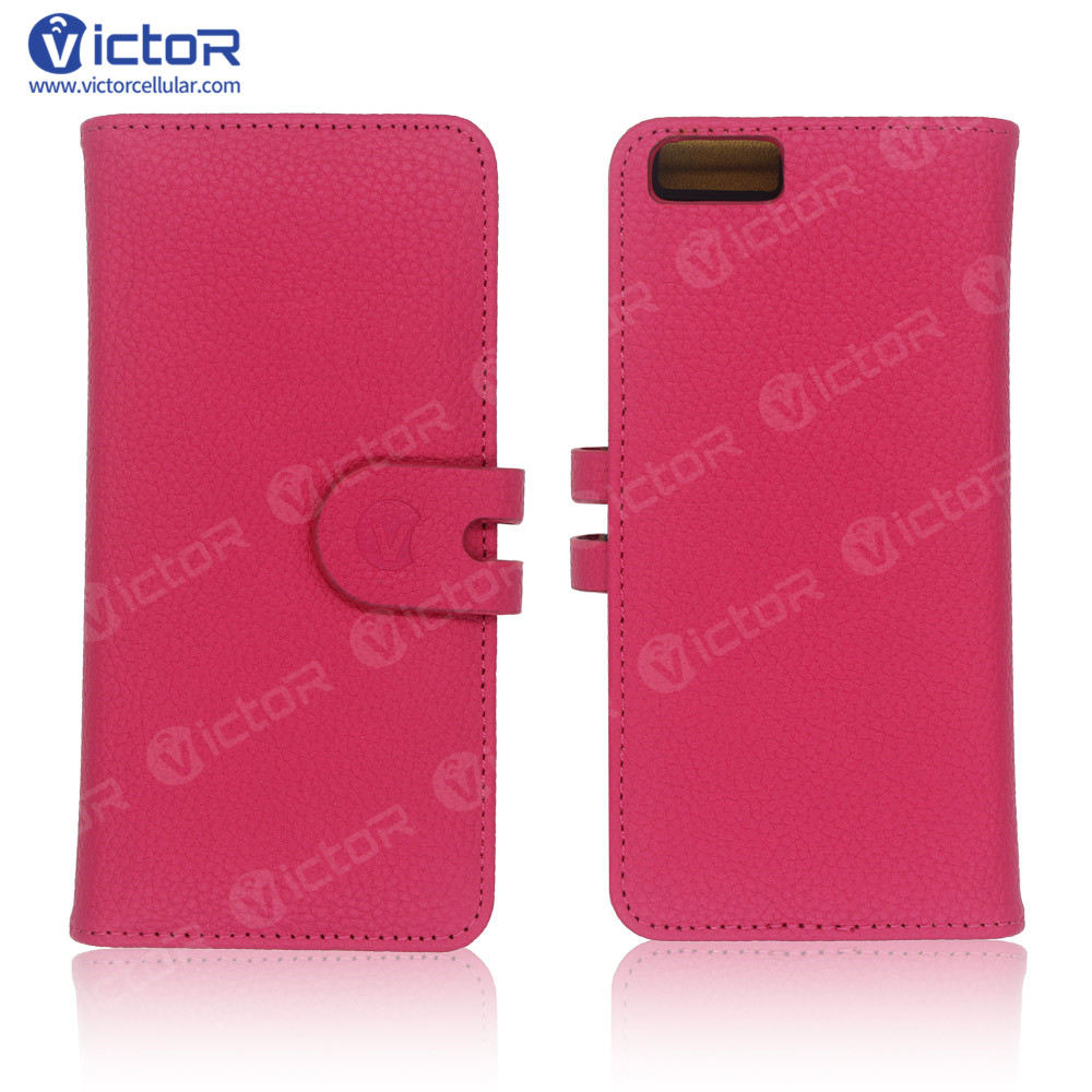 big sale 6c0e0 46d33 Wallet Leather Case for iPhone 6 Plus with PC Case and Card Holders